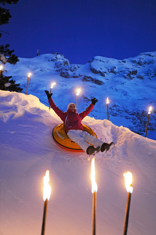Engelberg: Titlis Funpark im Winter