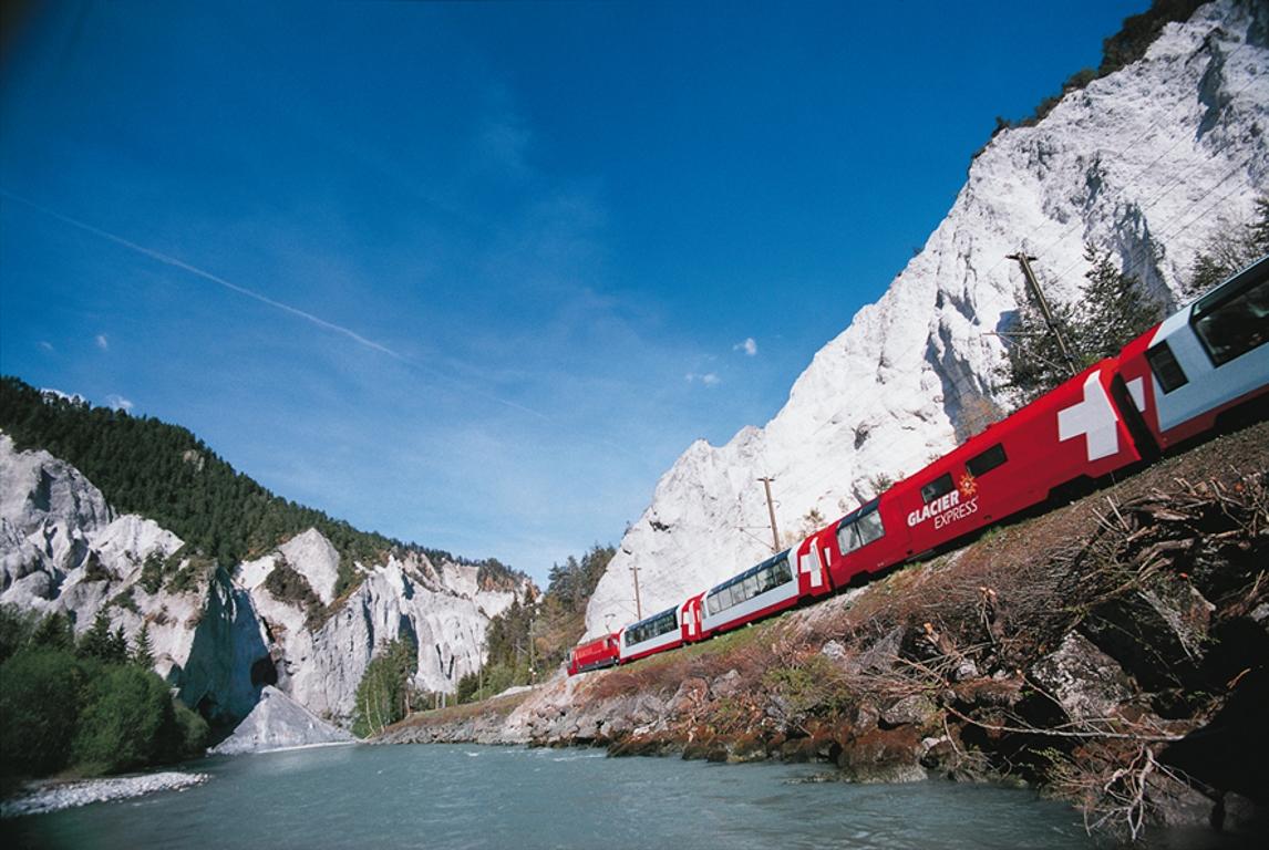 Glacier Express, Sommer, Panoramawagen, Ruinaulta, Rheinschlucht