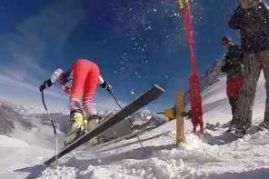 Power combined with speed. Thats ski racing. GoPro 240fps