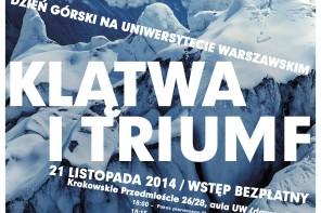 Dzień Górski na Uniwersytecie Warszawskim – 21 listopada 2014 – Wstęp bezpłatny