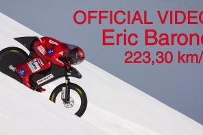 Eric Barone – 223,30 km/h – World mountain bike speed record – Vars Speed Challenge 2015