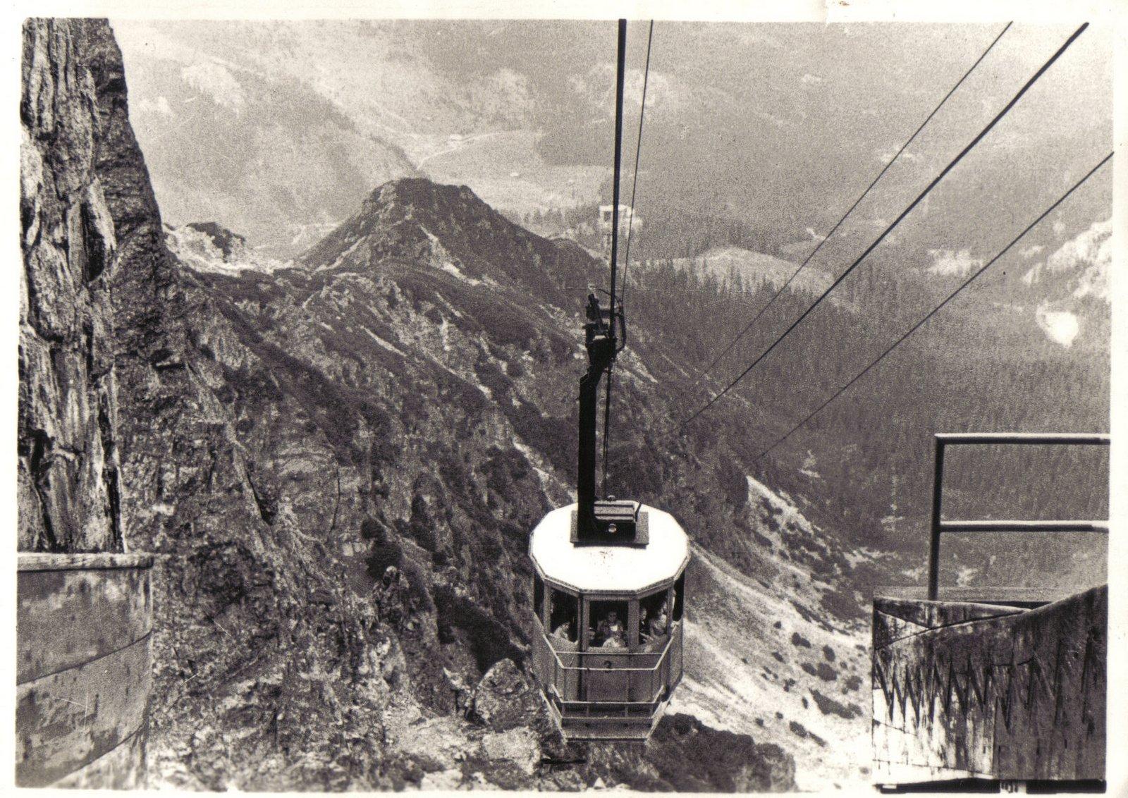 1-Kolej Kasprowy Wierch szczyt, fot. G. Russ ob.1960 (WS)-001