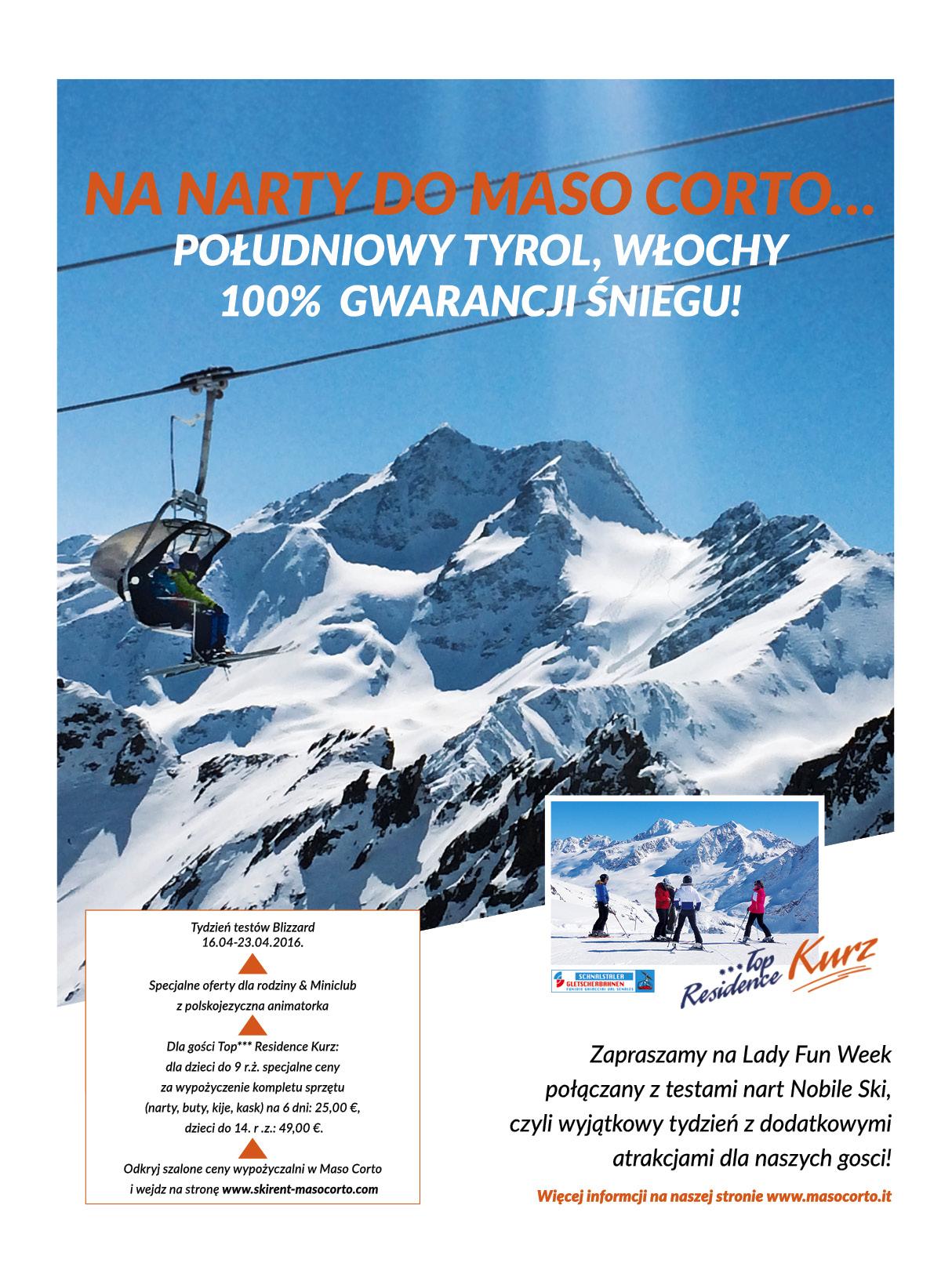 Maso Corto zaprasza na super narty w kwietniu.